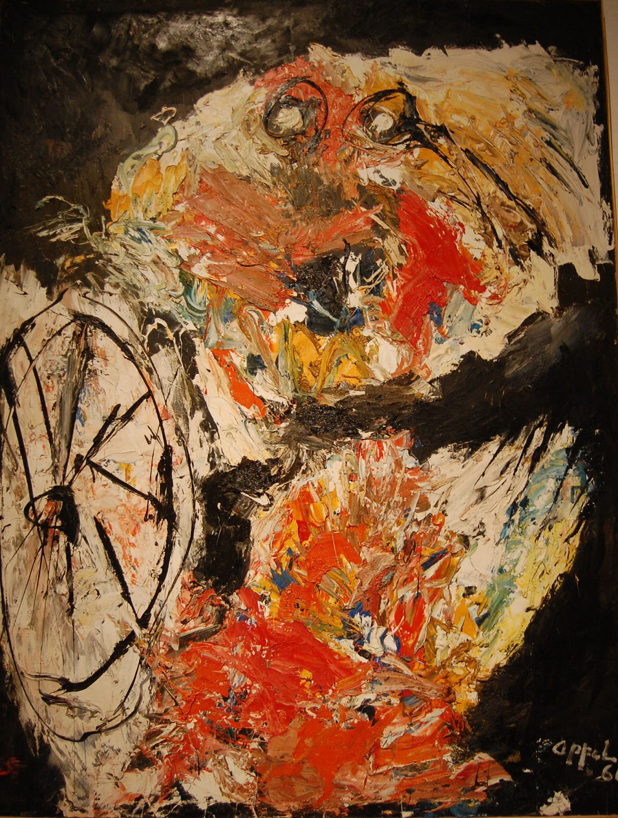 Karel Appel, Vlammend kind met hoepel, 1961